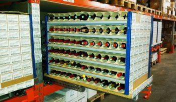 Tiroirs de stockage à plateau bois 80x120 - Ouverture 100% - Sur lisse haute.