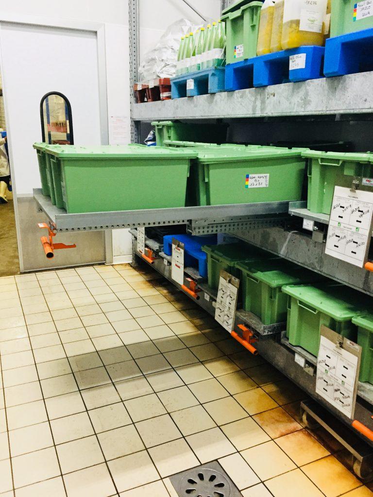 Tiroirs Télescopiques STOCK3P – Stockage caisses de produits de la mer