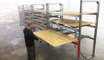 Stockeur 3P Stock3P – Tiroirs + Plateaux fixes bois OSB