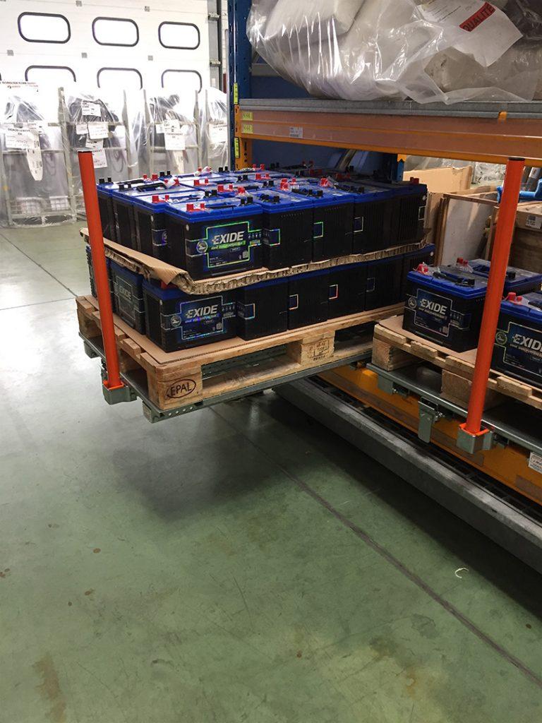 Tiroir Lisse basse - Stockage palette de batteries