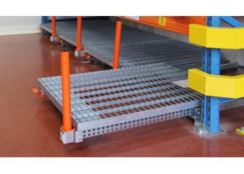 Tiroir STOCK3P - Plateaux caillebotis ouverture 70% - installation sur lisse haute et directement au sol