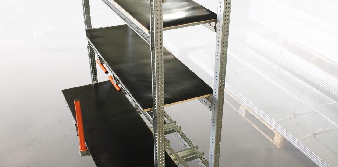 Stockeur 3P - Tiroirs STOCK3P à plateaux bois et revêtement caoutchouc anti-glisse – Ouverture 70 %.